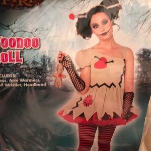 Child XL 12-14 Voodoo Doll Halloween Costume